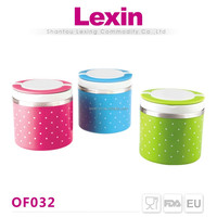take out round decorative warm food container