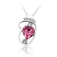 2015 high fashion accessories,white gold plated pendant necklace