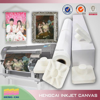 Bright white matte poly canvas for art printing
