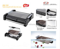 Electric Kebab Grill With Glass Lid For Viewing As A Wind Shield