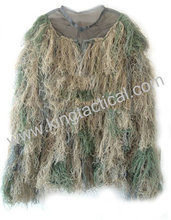 hunter ghillie suit waterproof burlap camo clothes tactical gear with best factory price