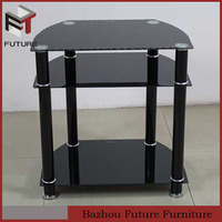 cheap black glass and iron tube tv stands