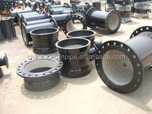 Ductile iron pipe fitting double socket tee with flanged branch