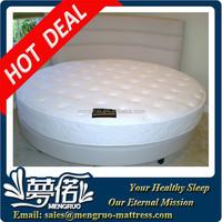 royal romantic visco foam sprung coil round bed mattress