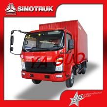 Howo Sino 4x2 6 wheeler 15cubic mini cargo van truck