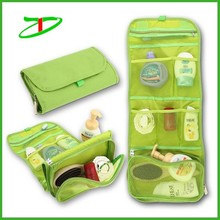 New design rolling promotion cosmetic bag, trendy hanging toiletry bag