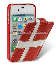 Newly design premium phone case,colored Leather case,case shockproof for Apple iPhone 4S