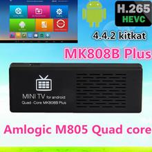 Android 4.4 TV Stick Amlogic M805 1GB 8GB Mini PC Bluetooth XBMC Miracast DLNA Quad-Core MK808B Plus TV Dongle