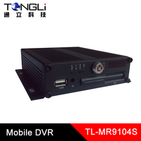 SD CARD MOBILE DVR h 264 video standard 4 channels realtime recording