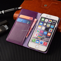 Shenzhen Factory Leather Flip Purse Case Leather PU Phone Case, Case For iphone 6 Wallet Case ,For iphone Flip Hard Case Cover