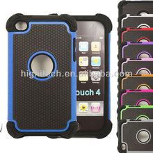 Hybrid Rugged Rubber Matte Heavy Duty Hard Case For Apple iPod Touch 4th Gen 4