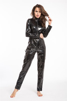 2015 Walsoninstyles SEXY FANCY DRESS CATWOMAN LEATHER LOOK CATWOMAN CATSUIT