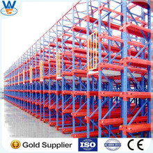 CE & ISO OEM Warehuse warehouse racking system , Drive in racking, drive through racking for long objects from Nanjing Victory