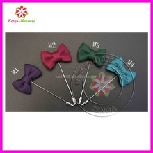Men's Accessories Lapel Fabric bow Boutonniere Stick Brooch Pin