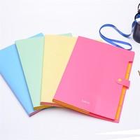 2015 hot sale 5 index candy colour document file /expanding file/expanding file bag