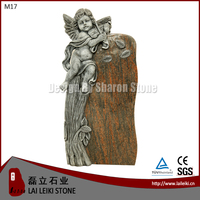 German Style Barap Granite Stone Angel Style Granite Cemetery Monuments