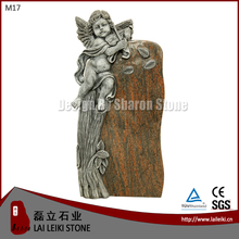 German Style Barap Granite Stone Angel Style Granite Cemetery Monuments