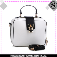 2015 China best sale choose first class PU leather material clear totes bags