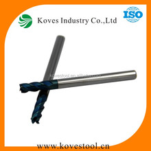 65HRC 1.5mm carbide end mill/end milling cutter with bule Nano coating for hard alloy made in china
