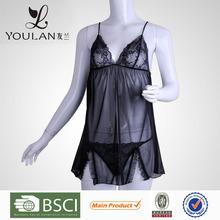 Fashion Perspective Gauze Elasticity Black Lace Lingerie Sex