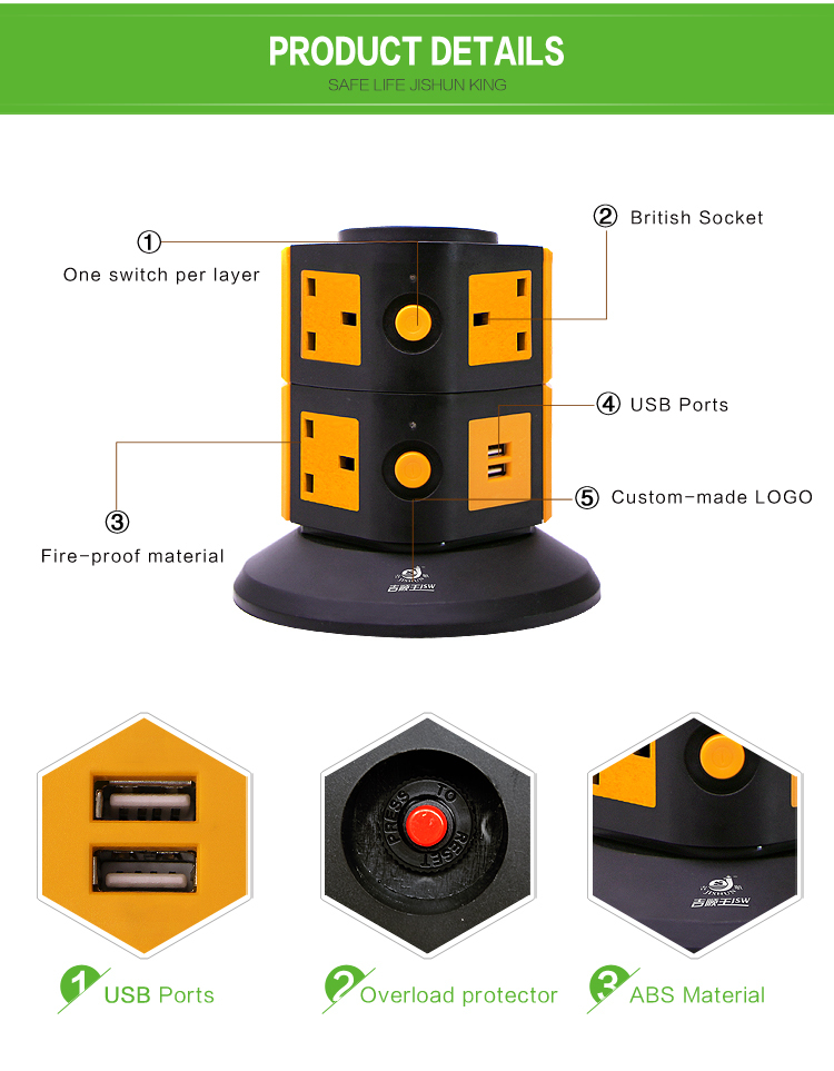Usb Multi Plug Extension Lead : Usb charger a v saso plug way pin flat power
