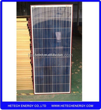 130W Solar Panel manufactures in China with Brown Frame