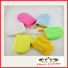 HL023 Microfiber Cosmetic Glove/Facial Mitt/Makeup Remover Soft Terry Style