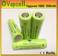 50A vappower 18650 Original vappower battery 2500mah 50A 3.7v high power 18650 rechargeable battery PK aw imr 18650
