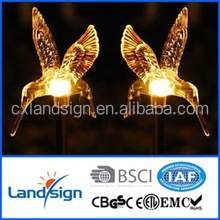 45*45cm solar pannel outdoor garden light,/solar hummingbird stick light with plastic+stainless steel
