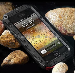Metal Waterproof And Dustproof And Anti Scrape Back Case for iPhone 5/5S