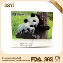 animal pan design 3d lenticular postcard made in China