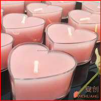 Plastic Hurricane Candle Holders VC02 heart shape