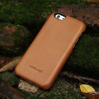 Italian full grain vegetable tanned Leather Case For phone for apple iphone 6/6plus