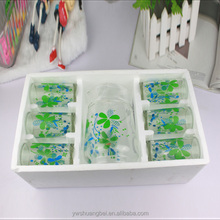 Colorful Printing Drinking Glass Cup Dinner Drinking Glass Set Glass and Pot Set