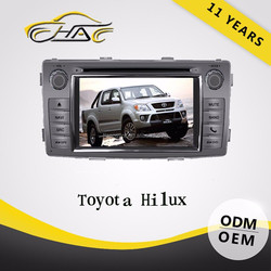 2 Din Car DVD For Toyota Hilux Radio Built In GPS Navigation /Rear-view Camera