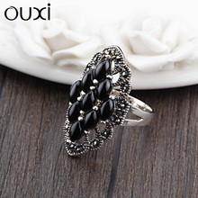 OUXI alibaba online selling thailand antique silver ring jewellery