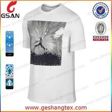 Hochwertige herren t-shirt maßgeschneiderte sublimationsdruck Turnhalle t-shirt