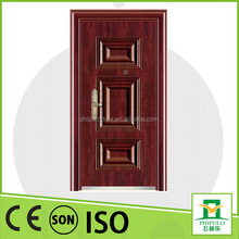 China supplier waterproof safety steel door with standard size for decorating house