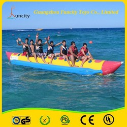 Wow!!!top quality inflatable banana boat/water towable tube/flying fish toy made from Guangzhou China