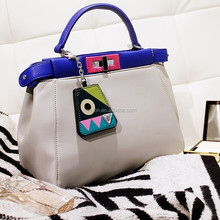 2015 new Europe brand pu leather ladies cute cat bag Macaroon little monsters hand bags for women
