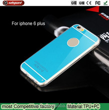 Hot High Quality Transparent PC+TPU Case For Iphone6 Plus cover
