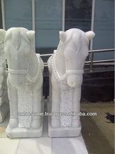 White horse stone statues