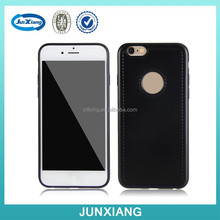 2015 new arrival cellphone case tpu imitation leather case for iphone 6