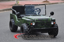 Hot Selling Army Green Color Mini Jeep Go kart