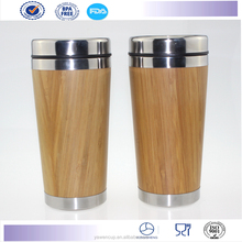 Hot Sale Plastic Starbucks Coffee tumbler auto Mug, outer bamboo