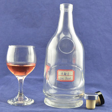 Top quality free sample recycled bourbon whiskey glass bottle