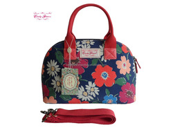 Classical Candy Flowers Waterproof Canvas Ladies Tote Bag
