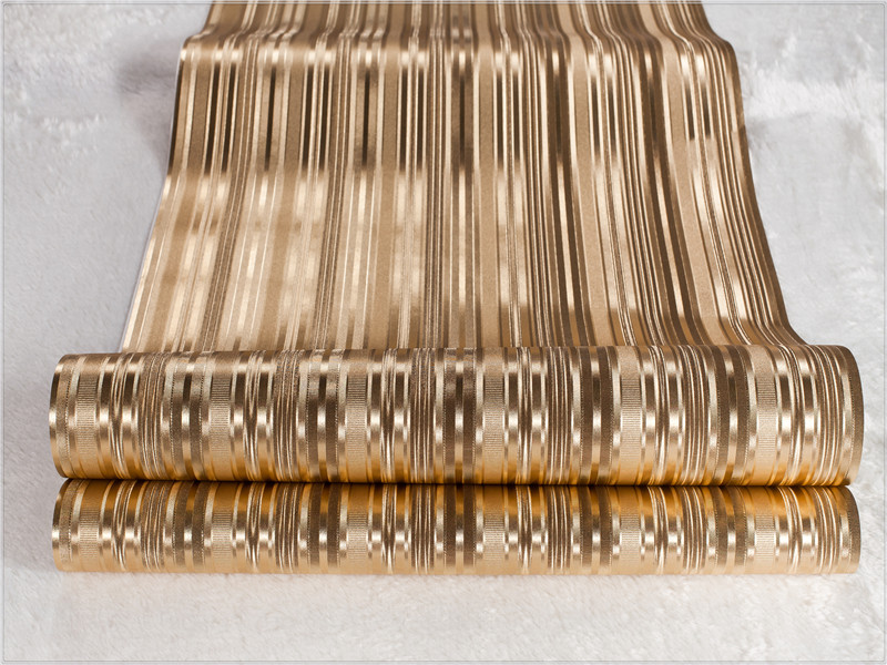 2014 fashion gouden behang rollen pvc behang slaapkamer woonkamer ...