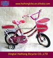 12 pulgadas con fashional tipo de cuatro ruedas bicicleta niño