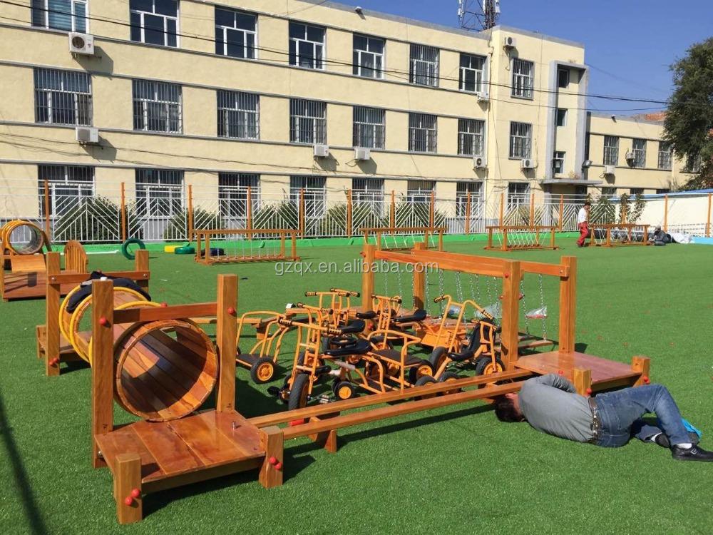 Non-toxic playground/indoor wooden playground slide/diy